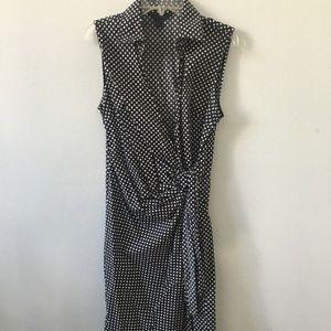 Express Polka Dot Wrap Dress - 6